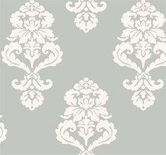 damask gray wallpaper