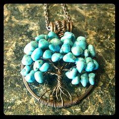 Handmade Tree Of Life Necklace Boho Hippie