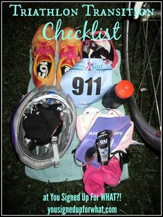 A triathlon transition checklist of what to pack for your sprint triathlon.