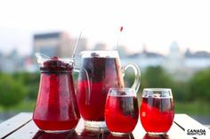 The Bonsecours Sangria Summer Drink Recipes, Sangria Recipes, Summer Drinks, Cocktail Drinks, Cold Drinks, Alcoholic Drinks, Beverages, Cocktails, Drinks Alcohol