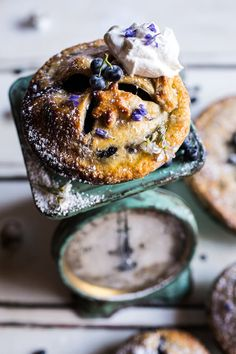 Sweet Blueberry Buttermilk Pies with Chamomile Cream   halfbakedharvest.com @hbharvest