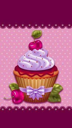 Coffee Cupcakes, Banana Cupcakes, Fun Cupcakes, Birthday Cupcakes, Simple Christmas, Kids Christmas, Cute Backgrounds, Iphone Backgrounds, Cupcakes Wallpaper
