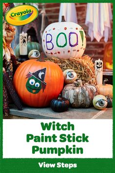 Get witch quick! Use our Pumpkin Painting Kit—plus a few supplies—to create spellbinding DIY Halloween decorations. Witch Painting, Pumpkin Painting, Pumpkin Carving, Diy Halloween Decorations, Halloween Diy, Projects For Kids, Art Projects, Diy And Crafts, Arts And Crafts