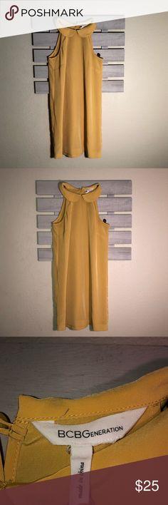 BCBG generation yellow dress Yellow dress above the knee thin material BCBGeneration Dresses Midi Yellow Dress, Khaki Pants, Best Deals, Closet, Style, Fashion, Swag, Moda, Armoire