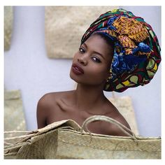 """Head wraps or """"gele"""", are not only culturally correct for African and African-American women, they are also beautiful. Add a pair of earrings, and rock your look with confidence. Geles, work for the office, and for play time. They can be used to dress an outfit up, or worn with casual styles. They are also, easy on the wallet. A few pieces can be mixed and matched to give you several different looks. Beautifully brought to you from geleyi.com"""