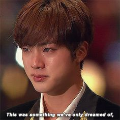 Oh sh!t, please don't cry Jin!! Oh God, stop, I'm crying just looking at you!!