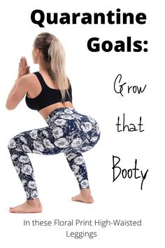 Grow and lift your booty in some cute spring leggings. You're stuck at home, might as well tone your glutes and look good doing it. Quick Easy Workouts, Run Cycle, Fat Burning Workout, Want To Lose Weight, Workout For Beginners, Printed Pants, Glutes, Women's Leggings, Booty