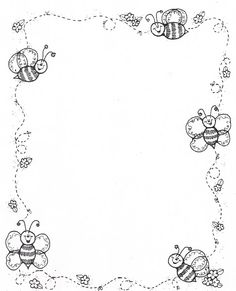 Borders DJ Inkers_Carson y negro - Laura Zamora - Picasa Web Albums Borders For Paper, Borders And Frames, Colouring Pages, Coloring Books, Dj Inkers, School Frame, Carson Dellosa, Page Borders, Bee Theme
