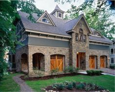 stone putty with gray. woodlawn residence - traditional - exterior - other metro - Witt Construction Exterior House Colors, Exterior Paint, Exterior Design, Stone Exterior, Gray Exterior, Exterior Doors, Barn House Design, Cottage Design, Garage Design