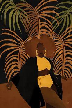 Black Art Painting, Black Artwork, Black Girl Art, Black Women Art, Canvas Artwork, Canvas Art Prints, Afro Art, Magic Art, African American Art