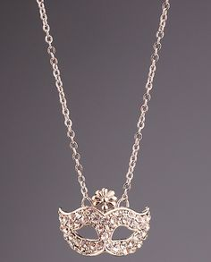 Silver Diamond Mask Chain Necklace US$7.50