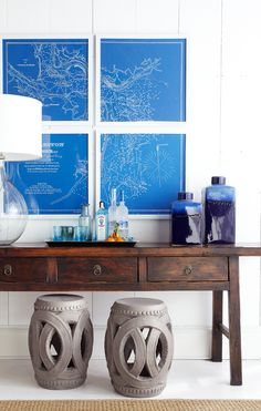 Nautical and eclectic.