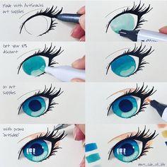 art tips eyes * art tips ; art tips drawing ; art tips and tricks ; art tips anatomy ; art tips for beginners ; art tips hair ; art tips face ; art tips eyes Marker Kunst, Copic Marker Art, Copic Art, Copic Drawings, Art Drawings Sketches, Sharpie Drawings, Eye Drawings, Copic Kunst, Poses References