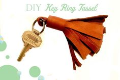 A Bit of Bees Knees: DIY Leather Tassel { For Your Keychain & Key Ring}