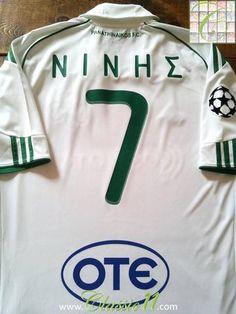 d7364ab6c4 Relive Sotiris Ninis s 2010 2011 European season with this original Adidas  Panathinaikos away football shirt