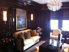NYC Luxury Apartment, Art Deco Inspired Den by Freeman Interiors of Philadelphia