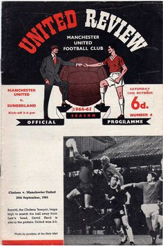 Man Utd 3 Middlesbrough 0 in Jan 1961 at Old Trafford. The programme cover for the FA Cup Round tie. Man Utd Crest, Bristol Rovers, Ipswich Town, West Brom, Manchester United Football, Manchester City, Football Program, Leeds United, Fulham