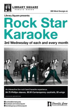 Here's your chance to rock out on the microphone with a live band - Join us for Rock Star Karaoke!   Wed August 15th