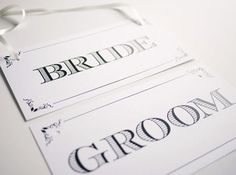 bride and groom signs free printable