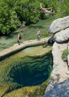 Jacobs Well north of Wimberly, Texas. Must see this.