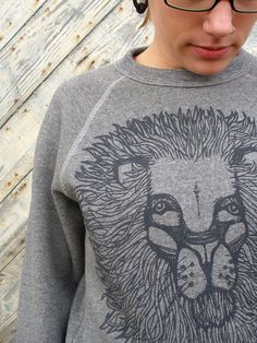 the lion sweatshirt.