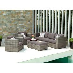 Have to have it. Talia Outdoor Deep Seating Conversation Set - $2799.99 @hayneedle