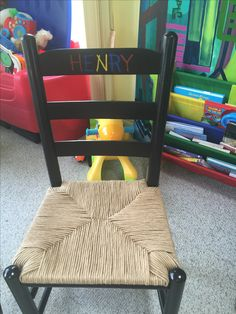 Personalized wrapped corner rush chairs for a child's room. Child's Room, Wishbone Chair, Floor Chair, Restoration, Kids Room, Workshop, Chairs, Corner, Flooring