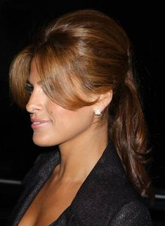 Eva Mendes-Love her hair color Up Hairstyles, Pretty Hairstyles, Wedding Hairstyles, Bridal Hairstyle, Hairstyle Ideas, Braided Hairstyles, Hair Day, New Hair, Eva Mendes Hair