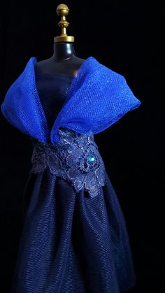 Vestido Blue  #boneca #barbie #vestido #dress #doll #fashion #blue