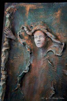 "Saatchi Art Artist Dr Franky Dolan; Painting, ""Bindi Wall Sculpture Relief (Image 3 of 5)"" #art"