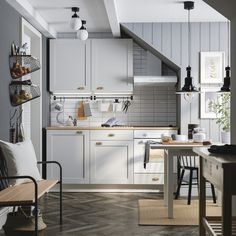 Wohnung KNOXHULT Küche grau Choosing the Right Curtains for Your Home Article Body: Choosing curtain Kitchenette, Knoxhult Ikea, Straight Kitchen, Inset Sink, Extractor Hood, Kitchen Mixer Taps, Cocinas Kitchen, Ikea Home, Nooks