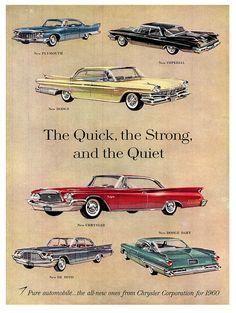 "Vintage Cars Nothing Says ""Pure Automobile"".like Chrysler - 1960 Bugatti Royale, Rolls Royce Phantom, Vintage Advertisements, Vintage Ads, Vintage Posters, Vintage Classics, Vintage Trends, Mopar, Jaguar"