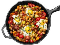 Squash and Bacon Hash with Eggs recipe from Food Network Kitchen via Food Network