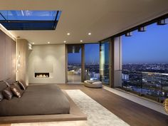 Dream Home Design, Modern House Design, Home Interior Design, Modern Houses, Master Bedroom Design, Modern Bedroom, Master Suite, Luxury Master Bedroom, Luxury Bedroom Design