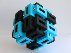 Origami Twelve Interlocking Rectangular Prisms II