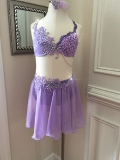Items similar to 2 Piece Custom Lyrical Dance Costume--Purple-Violet-Lavender-GORGEOUS! with Appliques and straps on Etsy Dance Moms Costumes, Modern Dance Costume, Contemporary Dance Costumes, Tap Costumes, Ballet Costumes, Ice Dance Dresses, Dance Outfits, Lyrical Dance, Dance Ballet