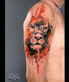 Kenlar - mixed realism with graphic elements - Sake Tattoo Crew