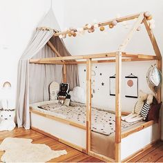 We love all house beds! Especially the Ikea Hack from the lovely in combination with our good moods light chain! Source by goodmoods Girl Nursery Bedding, Baby Bedroom, Baby Room Decor, Girls Bedroom, Wall Decor, Kura Cama Ikea, Ikea Kura Hack, Ikea Bunk Bed Hack, Toddler And Baby Room