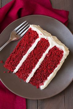 Red Velvet Cake with Cream Cheese Frosting - Cooking Classy (have previously subbed jet puff marshmallow for powdered sugar in frosting)