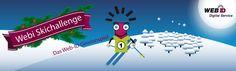 Webi-Ski-Challenge  Auf vielseitigen Wunsch haben wir Webis  letztjährige Ski-Challenge wieder aktiviert. Wagen Sie sich an den Start? Mit etwas Glück gewinnen Sie eines von zehn Überraschungsgeschenken.