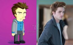 Foto de la version Simpson de Robert Pattinson Edward Cullen
