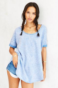 Ecote Acid Wash Tee - Urban Outfitters