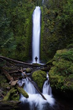 Wyeth State Park, Hood River County, Oregon — by Brian Matiash. The scramble up to Upper Gorton Creek Falls is well worth the effort!