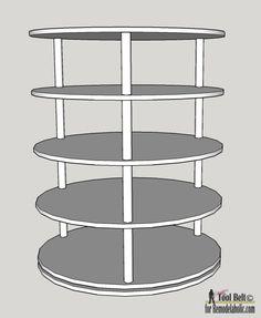 diy rotating shoe rack plans on