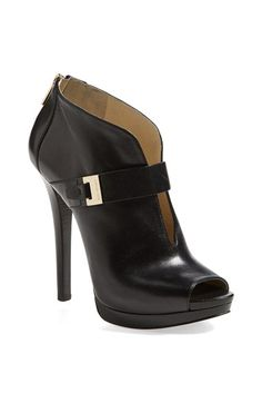 MICHAEL Michael Kors 'Guiliana' Peep Toe Bootie (Women) available at #Nordstrom