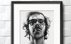 Chuck Close - Big Self Portrait, Probably one of my favorite art pieces ever. Chuck Close is a fine artist. Chuck Close Portraits, Chuck Close Paintings, Chuck Close Art, Famous Self Portraits, Kreative Portraits, Photo Polaroid, Walker Art, Art Brut, Looks Cool