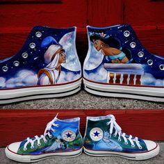 Disney Princess Shoes, Disney Shoes, Painted Canvas Shoes, Hand Painted Shoes, Disney Inspired Outfits, Disney Outfits, Disney Clothes, Disney Converse, Cartoon Shoes
