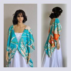 Royal Kimono Cape Japanese Silk Kaftan Poncho by EventOutlet