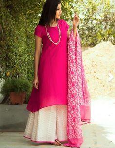 Fabindia Pink and White