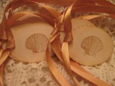 Hand Made Vintage Shell Gift Tags Party Favor by RubysPlaceInTime, $3.25